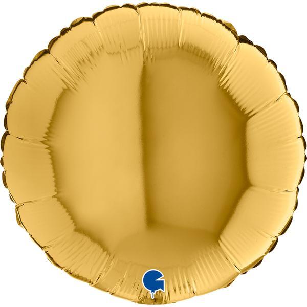 """Μπαλόνι Χρυσό Στρογγυλό 18"""""""