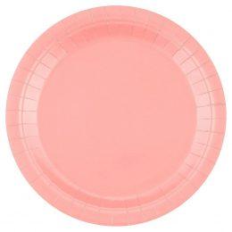 Πιάτα φαγητού Baby Pink (14 τεμ)