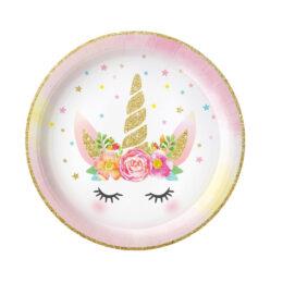 Πιάτα γλυκού Μονόκερος (6 τεμ)