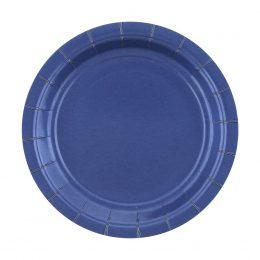 Πιάτα γλυκού Μπλε Σκούρο (20 τεμ)