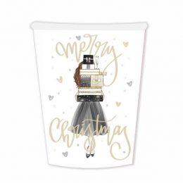 Χριστουγεννιάτικα Ποτήρια Girl With Gifts (6 τεμ)