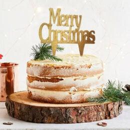 Χριστουγεννιάτικο topper merry christmas