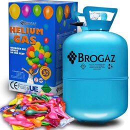 Φιάλη ήλιον για 30 μπαλόνια με Δώρο πολύχρωμα μπαλόνια + κορδέλα
