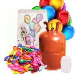 Φιάλη ήλιον για 30 μπαλόνια με Δώρο 30 πολύχρωμα μπαλόνια + κορδέλα