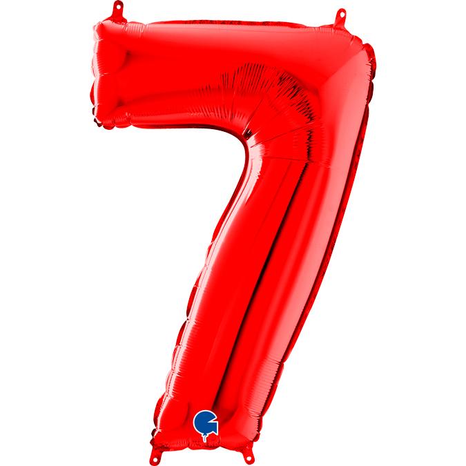 Τεράστιο Κόκκινο Μπαλόνι Αριθμός 7 100 εκ