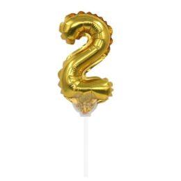 Αριθμός Τούρτας 2 Foil Μπαλόνι