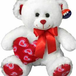 Αρκουδάκι με Φιόγκο & Κόκκινη Καρδιά 30εκ