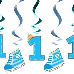Διακοσμητικά Οροφής Swirls I'm No 1 Μπλε