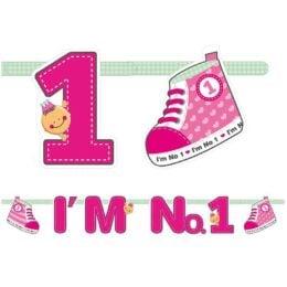 Διακοσμητική γιρλάντα I'm No 1 Ροζ