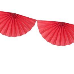 Διακοσμητική γιρλάντα με κόκκινες Ροζέτες 3m