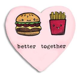 """Διακοσμητικό Μαγνητάκι Better Together """"Burger & Potato"""""""