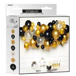 DIY Γιρλάντα Μπαλονιών Μαύρο – Χρυσό (66 μπαλόνια)