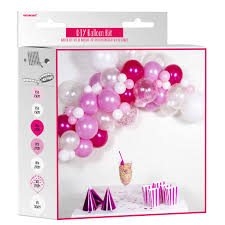 DIY Γιρλάντα Μπαλονιών Ροζ (70 μπαλόνια)