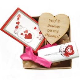 """Δώρακια Βαλεντίνου σε κουτί """"Forever my Always"""""""
