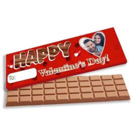 """Γίγας σοκολάτα με φωτογραφία """"Happy Valentine's Day"""""""
