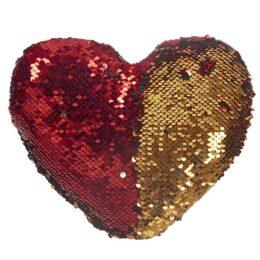 Καρδιά Κόκκινο-Χρυσό με Πούλιες Μεγάλη 25x21cm