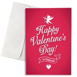 """Κάρτα Βαλεντίνου """"Happy Valentine's Day"""""""