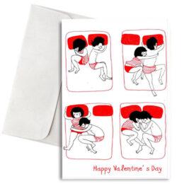 """Κάρτα Βαλεντίνου """"Couple Cuddling"""""""