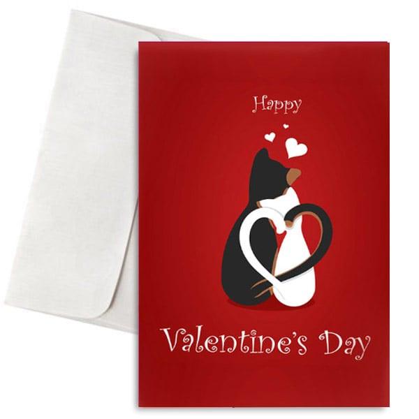 """Κάρτα Βαλεντίνου """"Ερωτευμένες Γατούλες"""""""