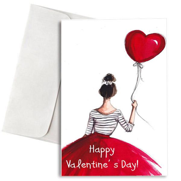 """Κάρτα Βαλεντίνου """"Love Balloon"""""""