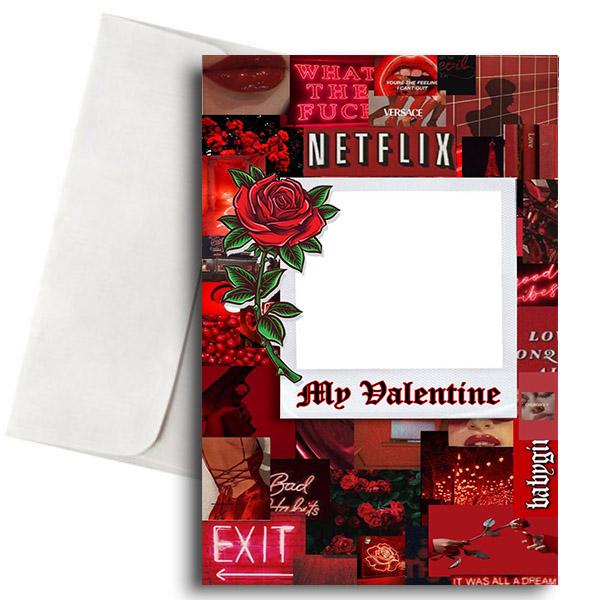 """Κάρτα Βαλεντίνου με Φωτογραφία """"Dark Aesthetic Valentine"""""""