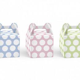 Κουτάκι πουά για μπομπονιέρα 3 χρώματα (6 τεμ)