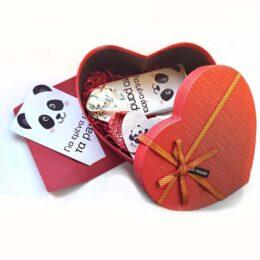 """Κουτί Δώρου για Ερωτευμένους """"Αγάπη για Panda"""""""