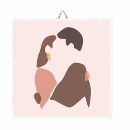 """Ξύλινο Καδράκι """"Couple Kissing"""""""