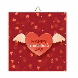 """Ξύλινο Καδράκι """"Happy Valentine's Day"""""""