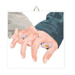 """Ξύλινο Καδράκι """"Take me Hand"""""""