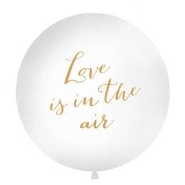 """Μπαλόνι Άσπρο """"Love is in the Air"""" 1 μέτρο"""