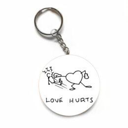 """Μπρελόκ Anti-Valentine """"Love Hurts"""""""