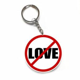 """Μπρελόκ Anti-Valentine """"No Love"""""""