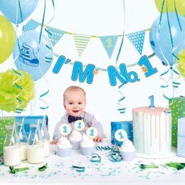 """Σετ Πάρτυ για πρώτα γενέθλια αγοράκι """"I'm No1"""""""