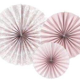 Σετ χάρτινες βεντάλιες ροζ Παιώνιες (3 τεμ)