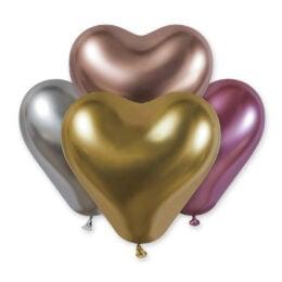 """12"""" Shiny Μεταλλική Καρδιά (4 χρώματα)"""