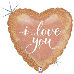 """Μπαλόνι αγάπης Holographic """"I Love You"""" 46 εκ."""