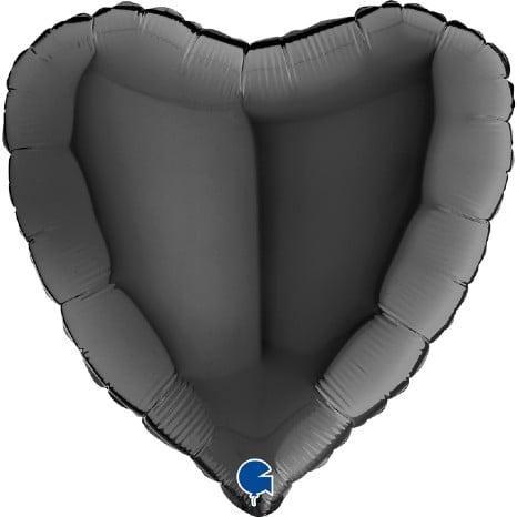 """Μπαλόνι μαύρη καρδιά 18"""""""