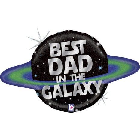 """Μπαλόνι Πλανήτης """"Best Dad in the Galaxy"""""""