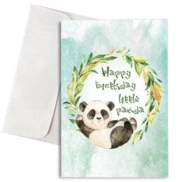 """Κάρτα Γενεθλίων """"Happy Birthday little Panda"""""""