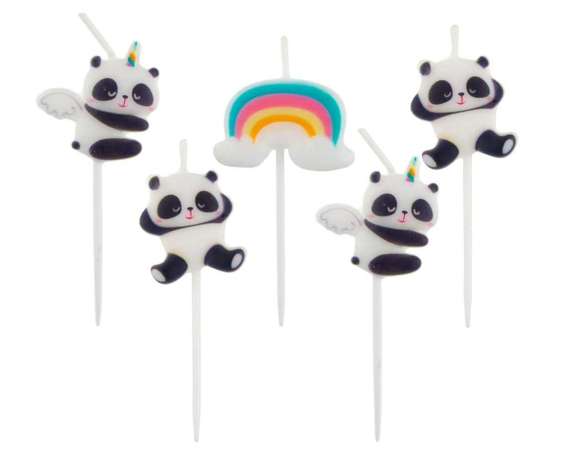Κεράκια τούρτας Panda (5 τεμ)