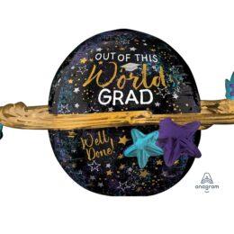 """Μπαλόνι Αποφοίτησης """"Out of this World Grad"""" UltraShape"""