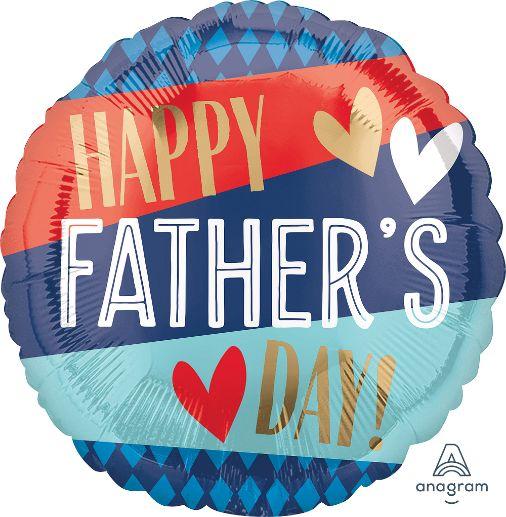 Μπαλόνι Happy Father's Day Ρίγες & Καρό