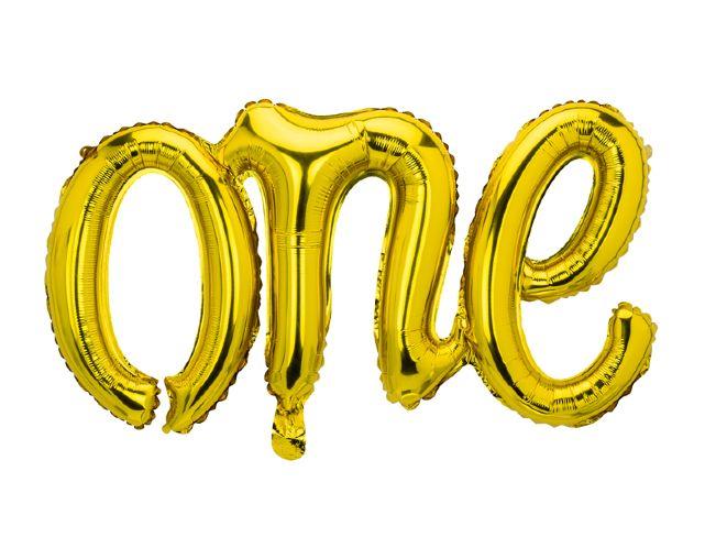 Μπαλόνι φράση One χρυσό
