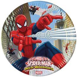 Πιάτα φαγητού Spiderman – Web Warriors (8 τεμ)