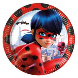 Πιάτα γλυκού Miraculous Ladybug (8 τεμ)