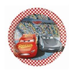 Πιάτα γλυκού Cars 3 (8 τεμ)