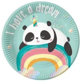 Πιάτα γλυκού Dreamy Panda (6 τεμ)