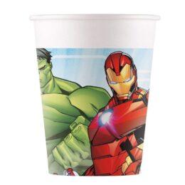 Ποτήρια Mighty Avengers (8 τεμ)