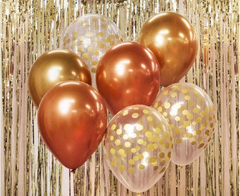 Σετ Μπουκέτο Μπαλόνια Rosegold (7 τεμ)